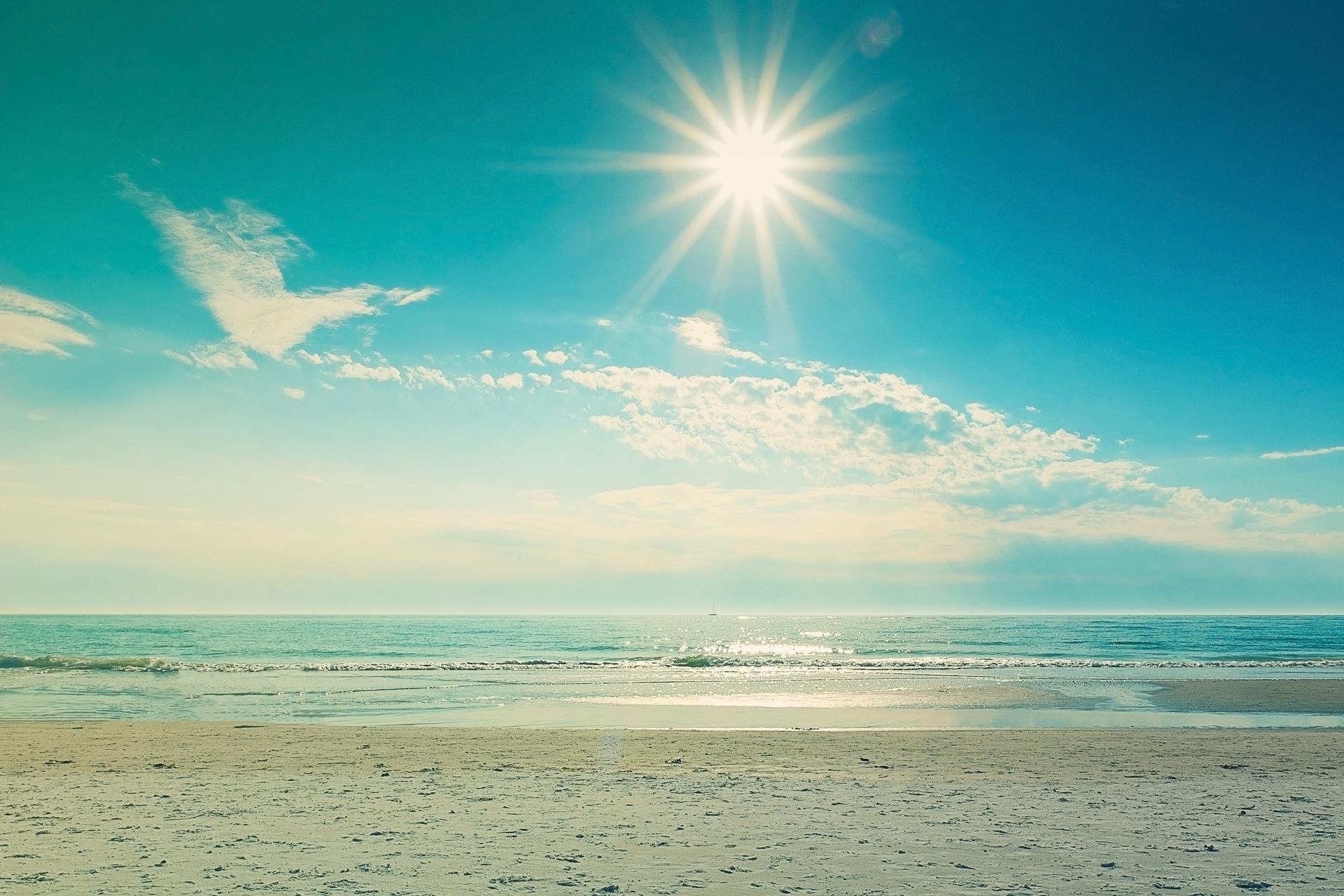 Bon Landscape Sea Sand Summer Sun Photo Hd Wallpaper